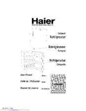 Haier 9587 - 5.8 cu. Ft. Compact Refrigerator User Manual