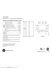 GE GSS20DBT Dimensions And Installation Information