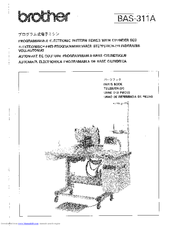 Brother BAS-311A Parts Manual