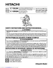 hitachi c 12rsh manuals rh manualslib com Hitachi C10FR Hitachi C10FR