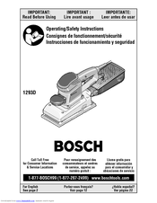 bosch 1293d 1 2 sheet finishing sander manuals rh manualslib com bosch prio cordless sander manual bosch detail sander manual