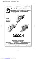Bosch 1587AVS Operating/Safety Instructions Manual