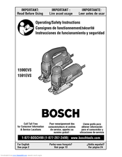 Bosch 1591EVSK - Barrel Grip Handle Jig Saw Operating/Safety Instructions Manual