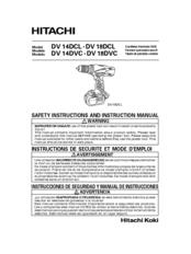hitachi cordless drill manual