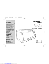 Hamilton Beach 31331 Use & Care Manual