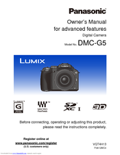 Panasonic Lumix DMC-G5X Owner's Manual