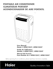 Haier Hprd12xc7 12000 Btu Portable Ac Manuals Manualslib