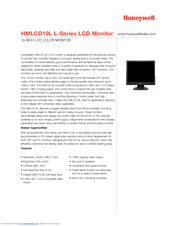 Honeywell HMLCD19L Specifications
