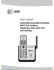 at t cl81309 dect 6 0 user manual pdf download rh manualslib com AT&T 6.0 Digital Answering System AT&T DECT 6.0 Manual