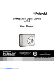 polaroid a500 5 1mp digital camera user manual pdf download rh manualslib com  polaroid ie826 manual