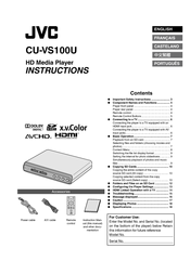 JVC CU-VS100 - Digital AV Player Instructions Manual
