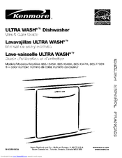 Kenmore 1345 - 24 in. Dishwasher Use And Care Manual