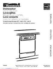 Kenmore 1441 - 18 in. Portable Dishwasher Use And Care Manual