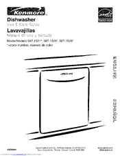 Kenmore 1526 - 24 in. Dishwasher Use And Care Manual