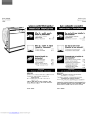 Maytag MDB4629AWB - Jetclean Plus 24 in. Dishwasher Installation Instructions Manual