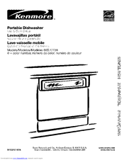 Kenmore 1772 - 24 in. Portable Dishwasher Use And Care Manual