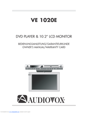 audiovox ve1020 manuals rh manualslib com