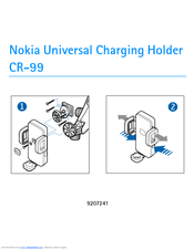 Nokia CR-99 - Cell Phone charger/holder User Manual