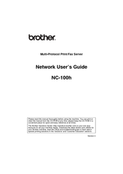 Brother NC-100h Network User's Manual