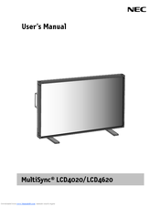 nec multisync lcd4020 manuals rh manualslib com Example User Guide Example User Guide