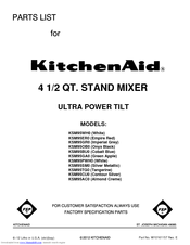 Kitchenaid Ultra Power Mixer Parts