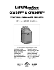 chamberlain liftmaster csw24v manuals