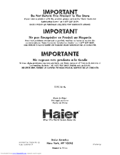 Haier HCM036PB User Manual