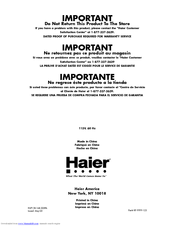 Haier HUF205EA User Manual