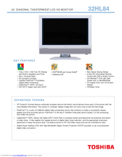 toshiba 32hl84 theaterwide hd 32 lcd tv manuals rh manualslib com Toshiba TV Input toshiba custom series hd tv manual