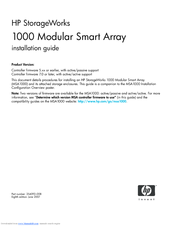 HP 201723-B21 - HP StorageWorks Modular SAN Array 1000 Hard Drive Installation Manual