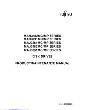 Fujitsu MAH3091MC - Enterprise 9.1 GB Hard Drive Product/maintenance Manual