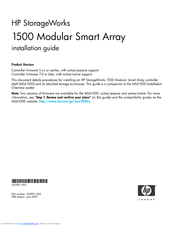 HP AE326A - StorageWorks Modular Smart Array 1500 SAN SATA Starter Installation Manual