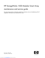 HP StorageWorks 1500cs - Modular Smart Array Maintenance And Service Manual