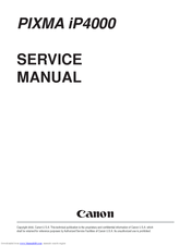 Canon Ip4000 Pixma Photo Printer Service Manual Pdf Download Manualslib