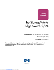 HP 316095-B21 - StorageWorks Edge Switch 2/24 Service Manual
