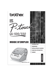 Brother andtrade; QL-500 Manuel D'utilisation