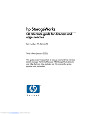 HP 316095-B21 - StorageWorks Edge Switch 2/24 Reference Manual