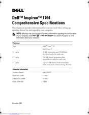 Dell Inspiron 1764 Specifications