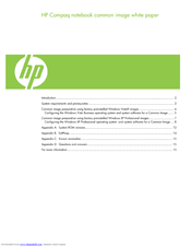 HP 6710b - Compaq Business Notebook White Paper