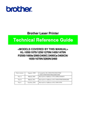 Brother HL-1070 - B/W Laser Printer Technical Reference Manual