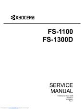 kyocera mita fs 1100 1300d parts manual