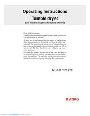 asko t712c operating instructions manual pdf download rh manualslib com Asko Dryer T208vw Back Asko Dryer Door Seal