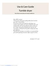 asko t712c manuals rh manualslib com Asko T731 Dryer Asko T731 Dryer