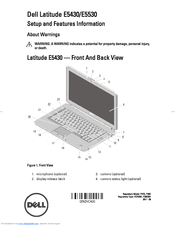 Dell Latitude E5530 Setup And Features Information