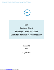 Dell Latitude E6520 How-to Manual