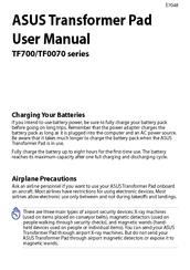 Asus Transformer Pad Infinity Tf700t User Manual Pdf Download Manualslib