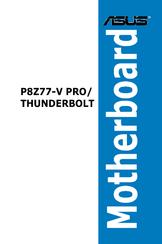 asus p8z77 v pro thunderbolt manuals rh manualslib com Asus P8Z77-V Pro Motherboard Asus P8Z77-V Pro Motherboard