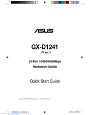Asus GX-D1241 Quick Start Manual