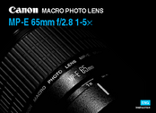 Canon MP-E 65mm f/2.8 1-5x Instruction