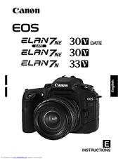 canon eos elan 7ne instructions manual pdf download rh manualslib com Canon EOS Elan 35Mm Canon Elan 7E Manual